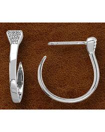 Kelly Herd Women's Sterling Silver Nail Hoop Earrings, , hi-res