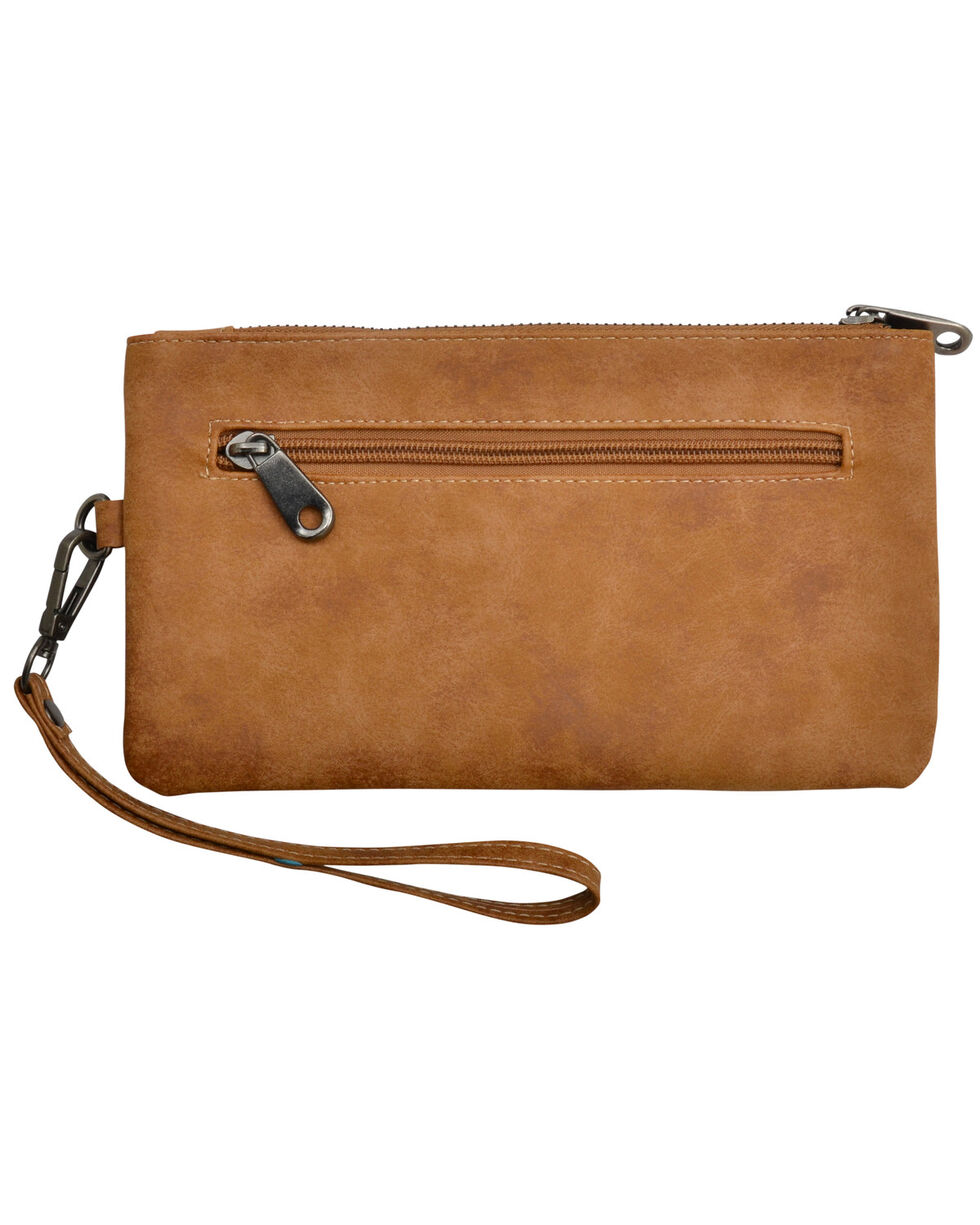 Angel Ranch Women's Tan Faux Leather Wristlet , Tan, hi-res