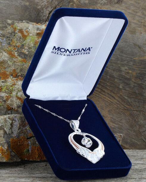 Montana Silversmiths Women's Two Tone Scrolling Basket Necklace, Silver, hi-res
