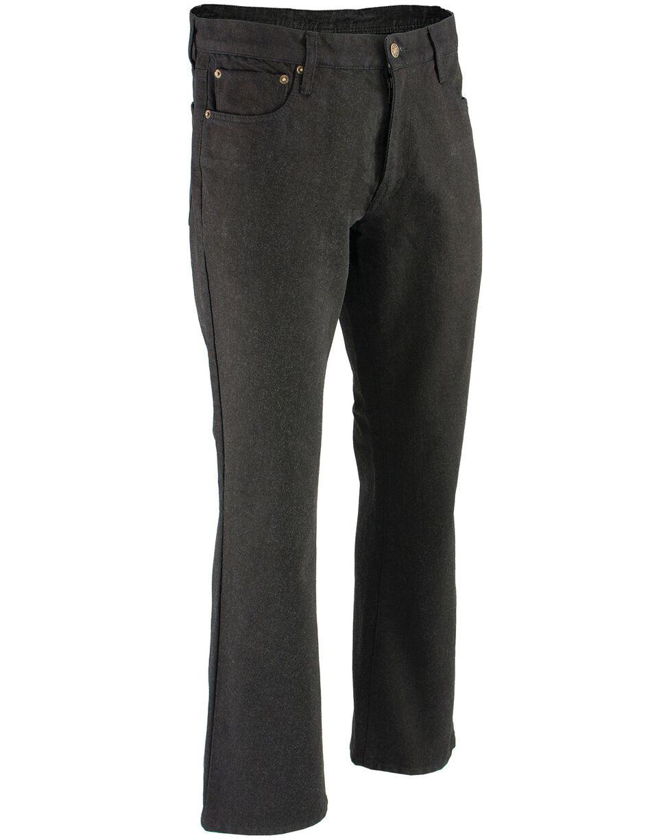 """Milwaukee Leather Men's Black 34"""" Aramid Infused 5 Pocket Loose Fit Jeans - XBig, Black, hi-res"""