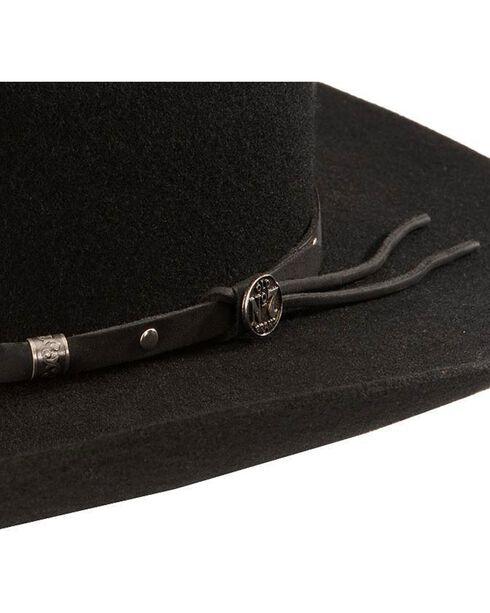 Jack Daniel's wool felt cowboy hat, Black, hi-res