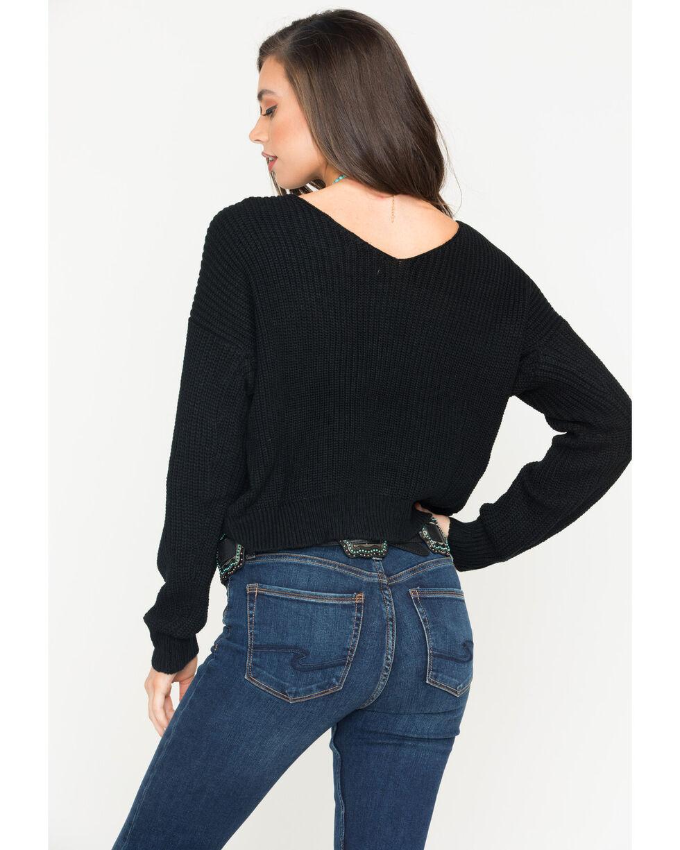 Sage The Label Women's Heart Throb Sweater , Black, hi-res