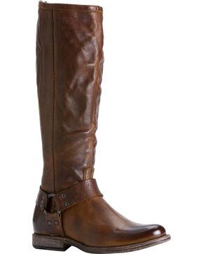 Frye Women's Phillip Harness Riding Boots - Round Toe, Cognac, hi-res