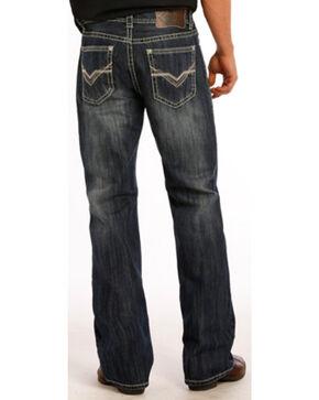 Rock & Roll Cowboy Men's Double Barrel Running V Boot Cut Jeans, Indigo, hi-res