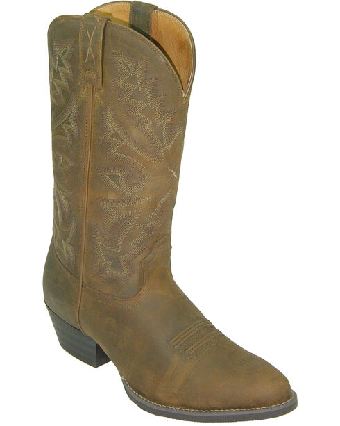 Twisted X Men's Distressed Round Toe Western Boots, Saddle Brown, hi-res