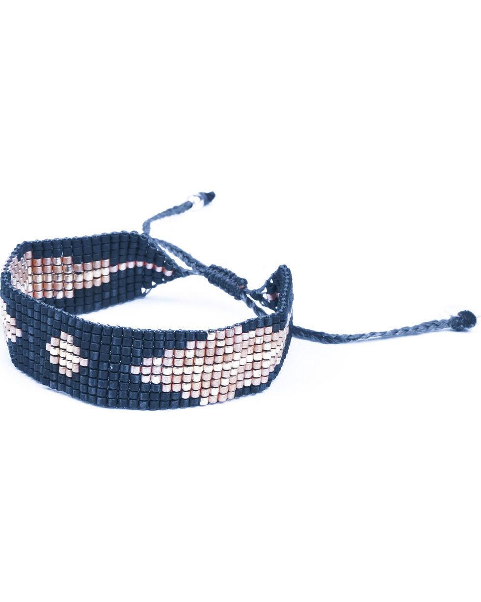 Kutula Kiss Women's Small Leafy Grey Bracelet , Indigo, hi-res