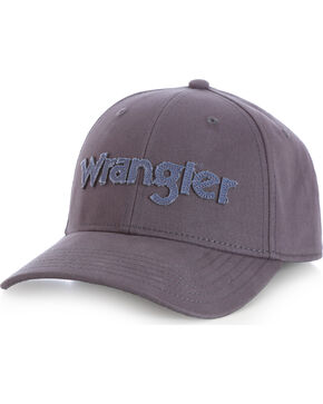 Wrangler Men's Distressed Stretch Fit Cap, Charcoal Grey, hi-res
