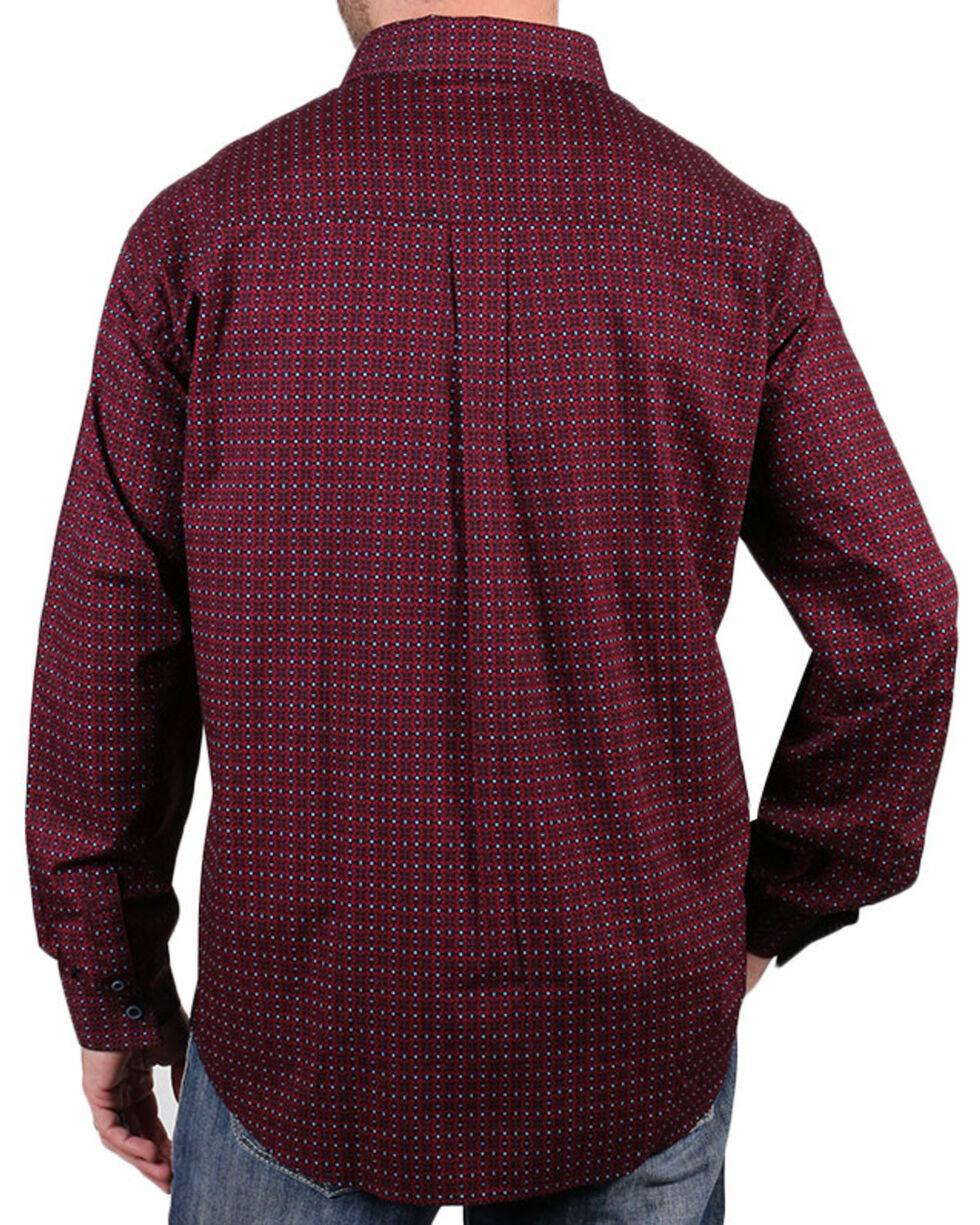 Cody James Core Men's Riata Print Long Sleeve Shirt, Black, hi-res