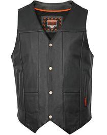 Interstate Leather Multiple Pocket Vest, , hi-res