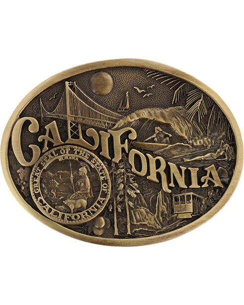 Montana Silversmiths California State Belt Buckle, Gold, hi-res