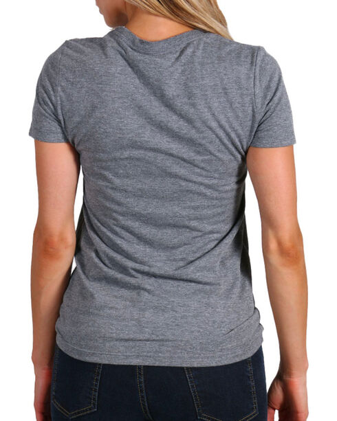 Smith & Wesson Women's Distressed Graphic Tee, Heather Grey, hi-res