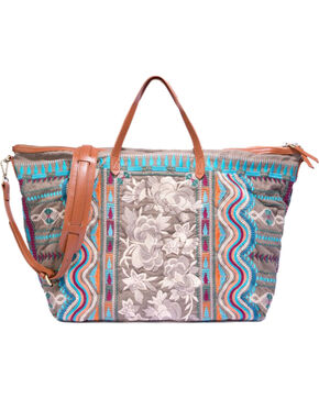 Johnny Was Women's Yucatan Weekend Bag , Green, hi-res