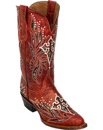 Ferrini Red Vixen Cowgirl Boots - Pointed Toe, , hi-res