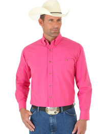 Wrangler George Strait Men's Pink Long Sleeve Shirt - Tall, , hi-res