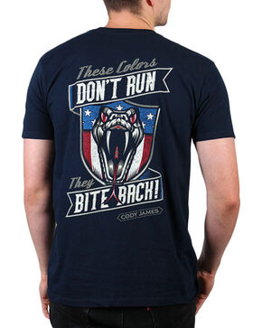 "Cody James® Men's ""Bite Back"" Short Sleeve T-Shirt, Navy, hi-res"