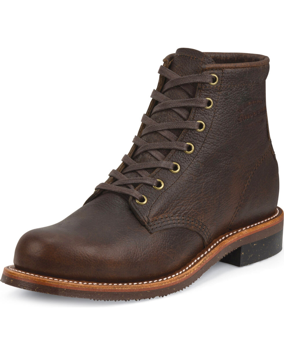 "Chippewa Men's 6"" Lace-Up Briar Pitstop Service Boots, Bark, hi-res"
