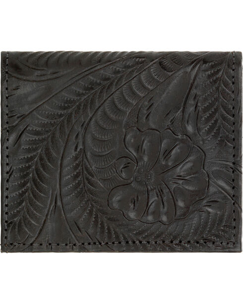 American West Women's Bi-fold Boyfriend Wallet, Black, hi-res