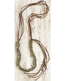 Jewelry Junkie Women's Double Strand African Turquoise Necklace, , hi-res