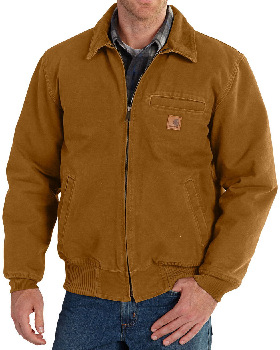 Carhartt Men's Pecan Brown Bankston Jacket - Big & Tall, Pecan, hi-res