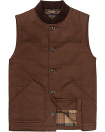 Pendleton Men's Brown Canvas Journey Vest, Brown, hi-res