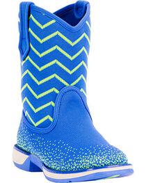 Laredo Kids' Ziggy Performair Western Boots, Blue, hi-res