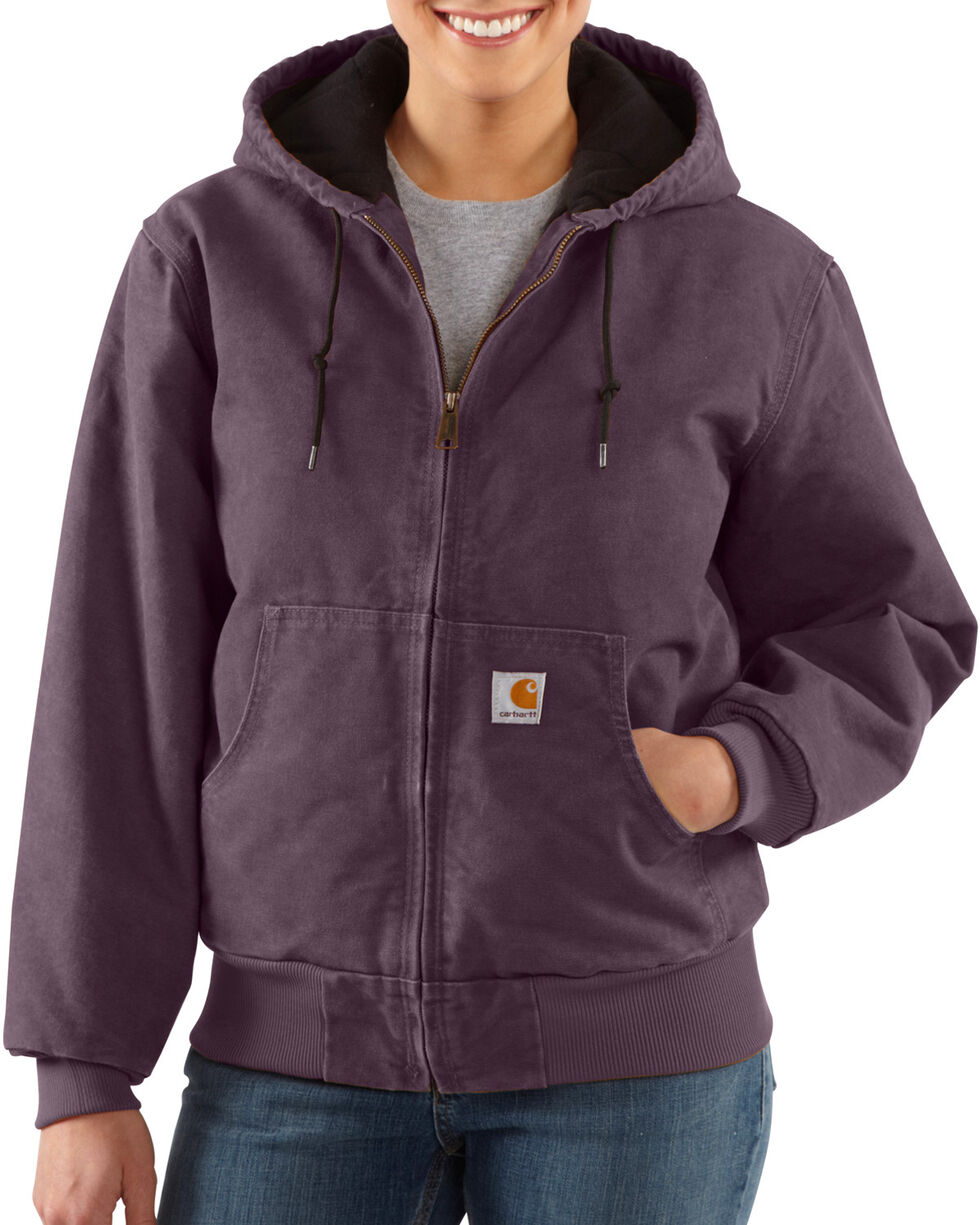 Carhartt Women's Sandstone Active Jacket, Plum, hi-res