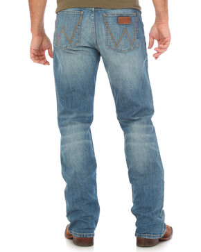 Wrangler Men's Blue Retro Wellington Slim Fit Jeans - Boot Cut , Medium Blue, hi-res