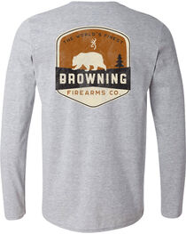 Browning Men's Bear Banner Long Sleeve Tee, , hi-res