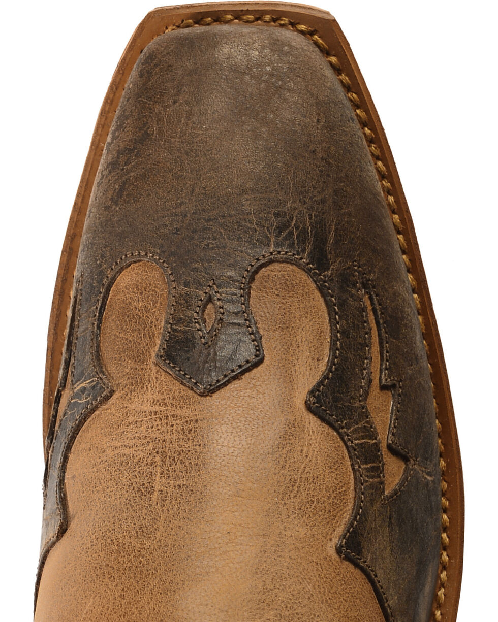 "Abilene Women's 11"" Two-Tone wingtip Western Boots, Tan, hi-res"