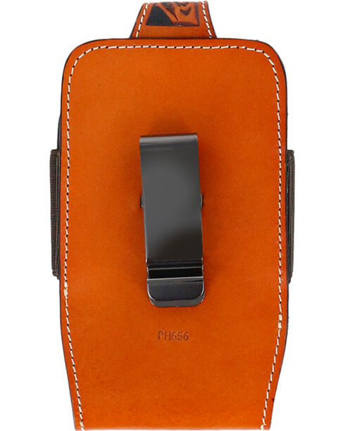 Cody James® Men's Embossed Leather Cell Phone Holder, Natural, hi-res
