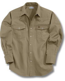 Carhartt Solid Cotton Twill Long Sleeve Work Shirt, , hi-res