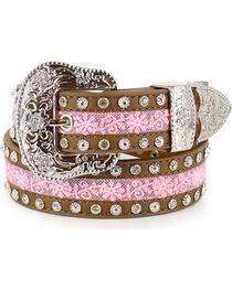 Angel Ranch Girls' Floral Lace Belt , , hi-res