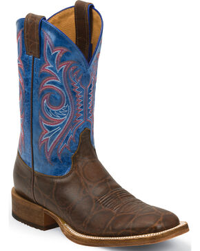 Justin Bent Rail Men's Western Boots, Brown, hi-res