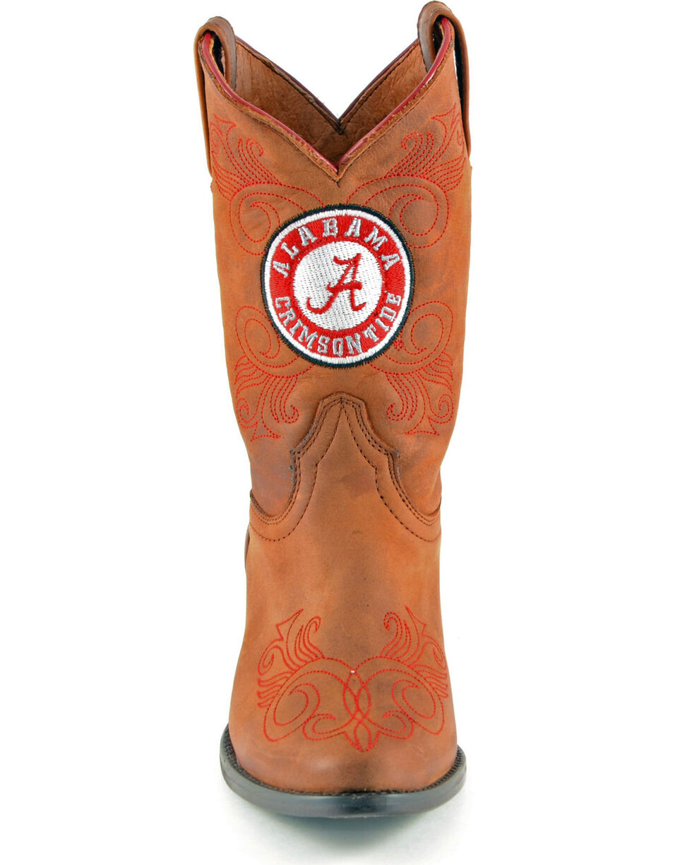 Gameday Boots Girls' University of Alabama Western Boots - Medium Toe, Honey, hi-res