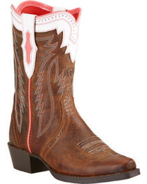 Ariat Girls' Calamity Rodeo Western Boots, , hi-res