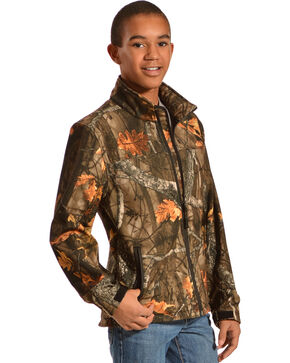 Red Ranch Boys' Bonded Camo Jacket, Black, hi-res
