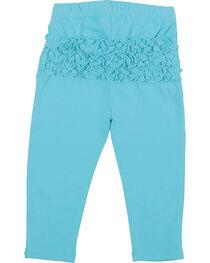 Wrangler Infant Girls' Turquoise Ruffle Leggings , , hi-res
