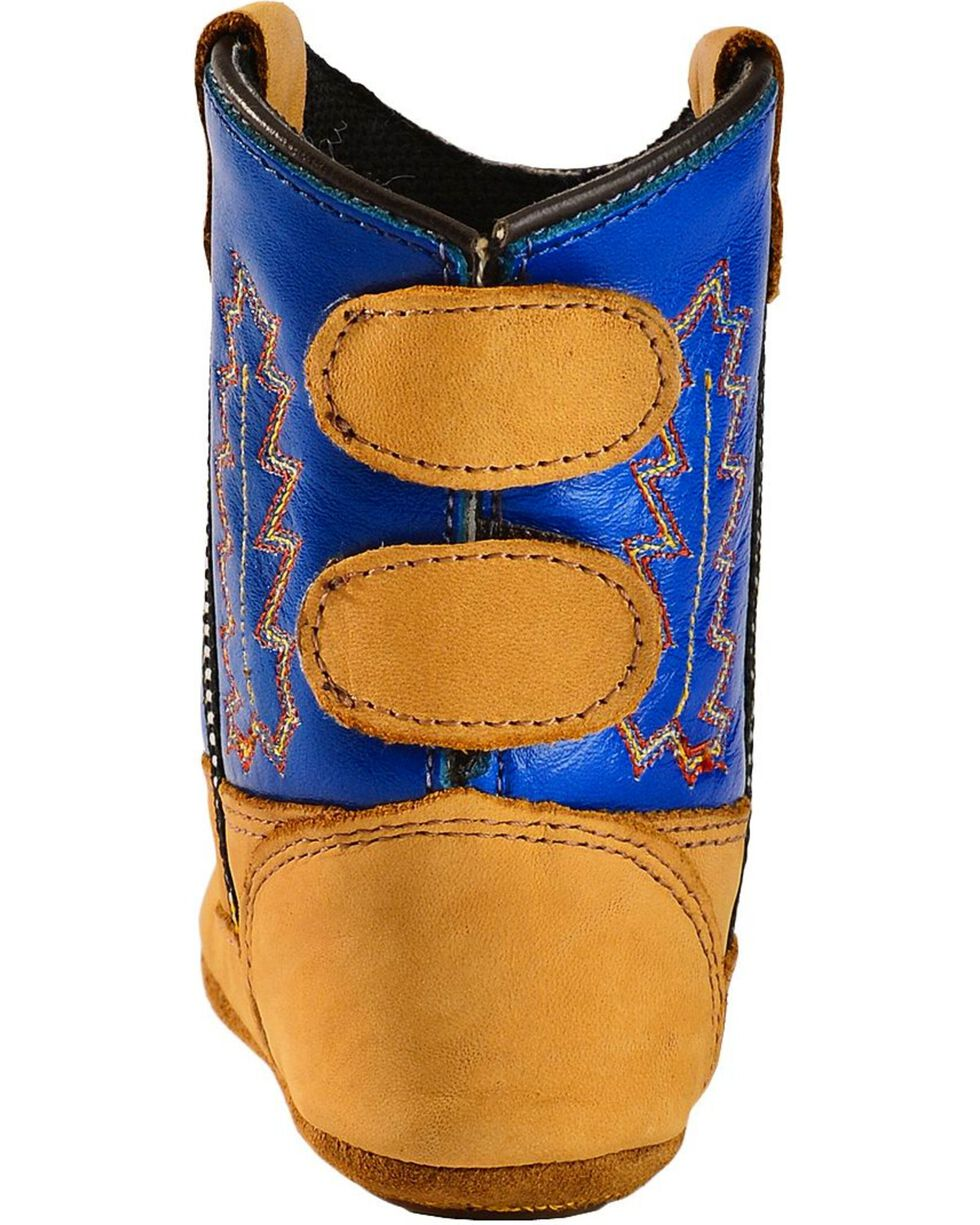 Jama Infant's Old West Poppets Western Booties, Blue, hi-res