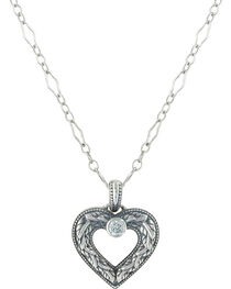 Sterling Lane Women's Wilderness Heart Necklace , , hi-res