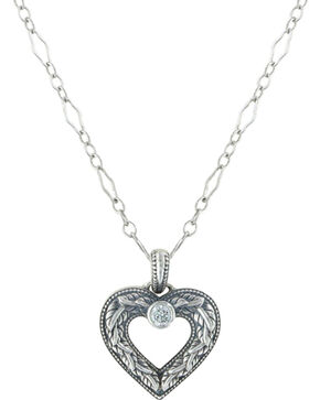Sterling Lane Women's Wilderness Heart Necklace , Silver, hi-res