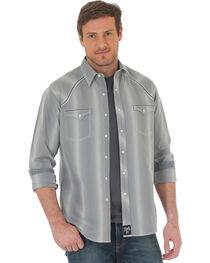 Wrangler Rock 47 Men's Vertical Stripe Long Sleeve Snap Shirt - Big & Tall, , hi-res