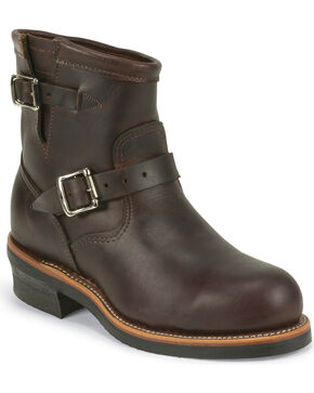 "Chippewa Men's  7"" Steel Toe Engineer Boots, Cognac, hi-res"