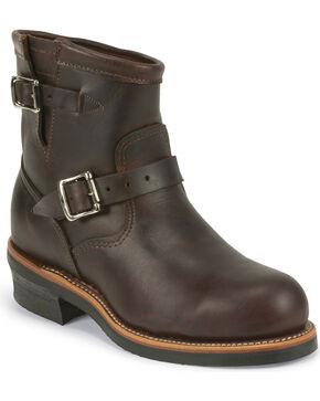 """Chippewa Men's  7"""" Steel Toe Engineer Boots, Cognac, hi-res"""