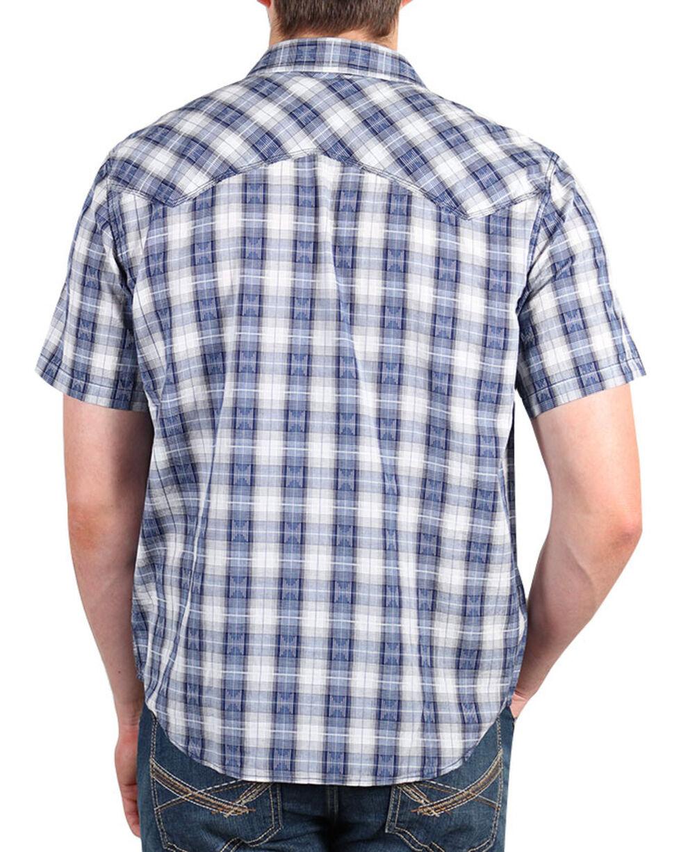 Cody James® Men's Rattler Plaid Short Sleeve Shirt, Navy, hi-res