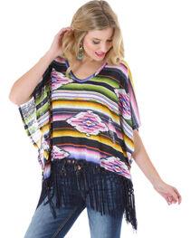 Wrangler Rock 47 Women's Serape Fringe Kimono, , hi-res