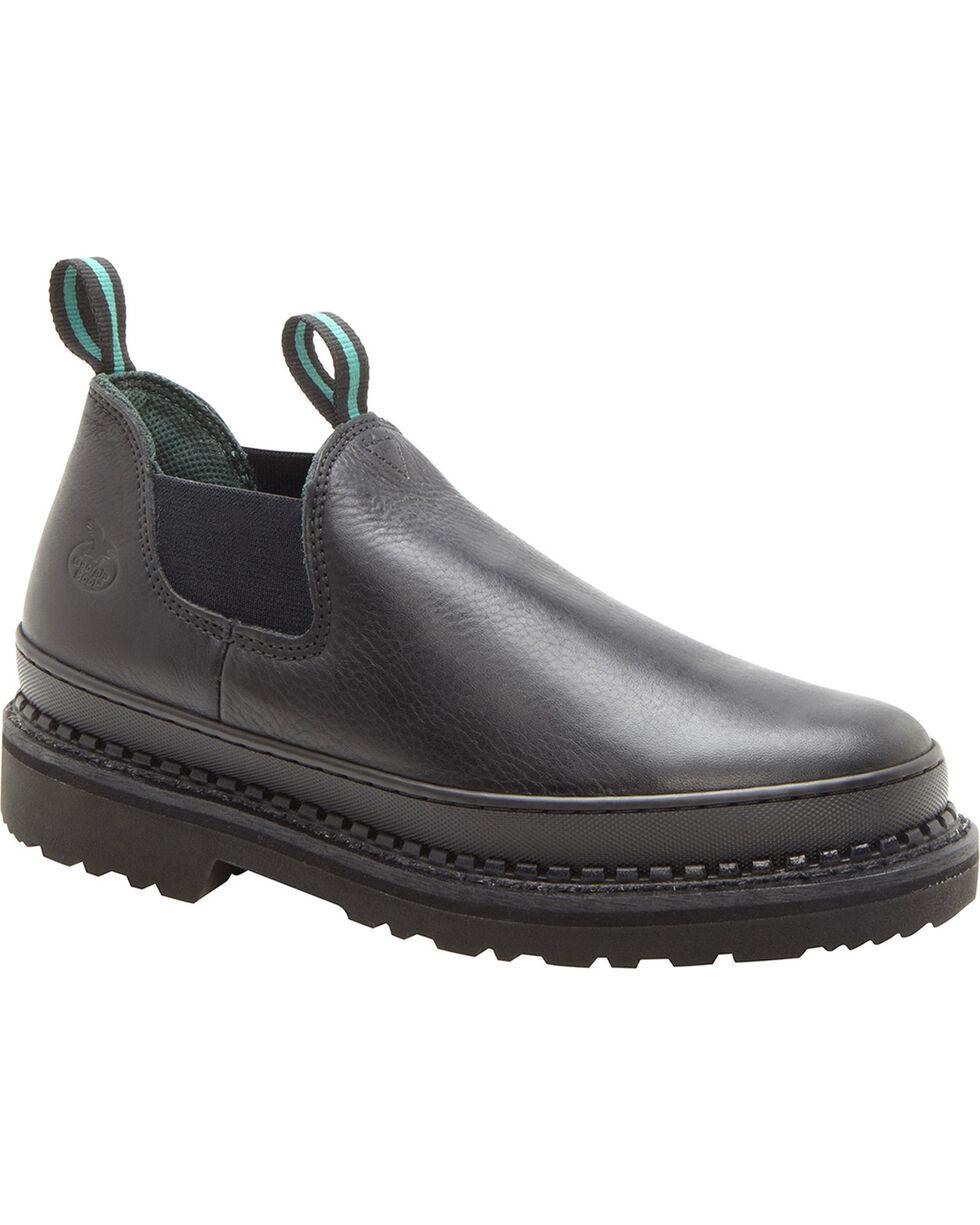 Georgia Women's Romeo Work Shoes, Black, hi-res