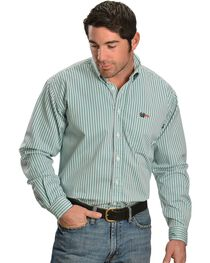 Cinch WRX Men's Flame Resistant Long Sleeve Striped Twill Work Shirt, , hi-res
