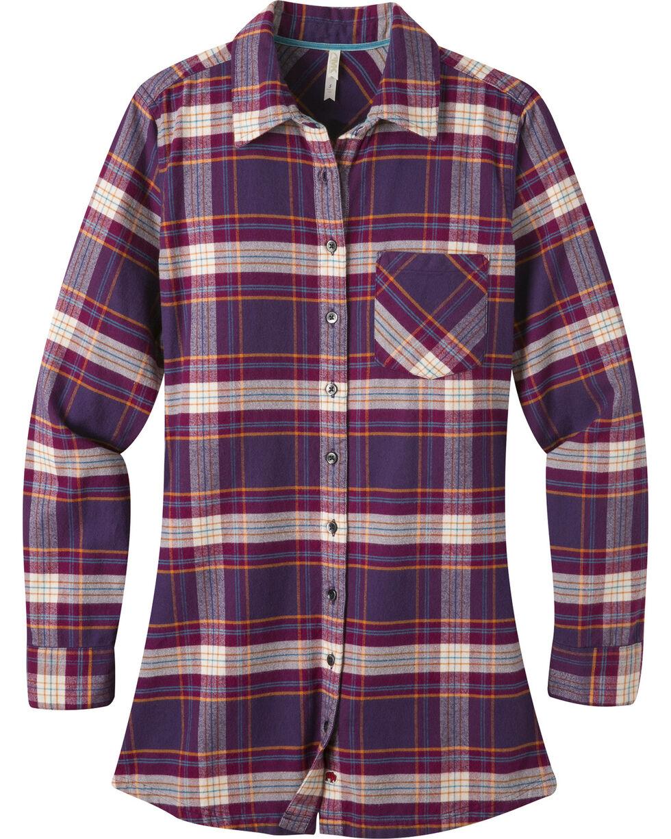 Mountain Khakis Purple Plaid Penny Tunic Shirt , Purple, hi-res