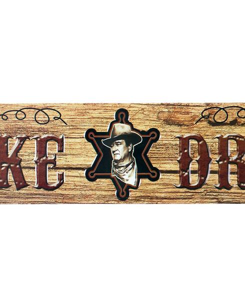 Mid-South Products John Wayne Sheriff's Badge Street Sign, No Color, hi-res