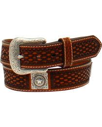 Ariat Men's Basketweave Embossed Leather Belt , , hi-res